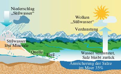 Warum ist salz im meer
