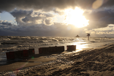 Sturm am Heringsdorfer Strand