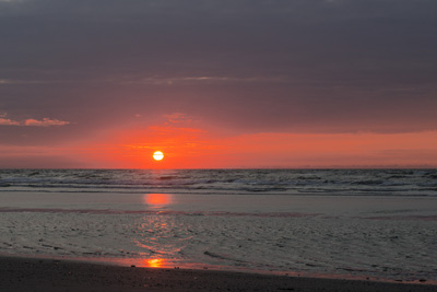 Sonnenuntergang auf der schönen ostfriesischen Insel Juist