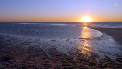 Westerland im Sonnenuntergang