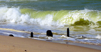 Welle am Sylter Strand