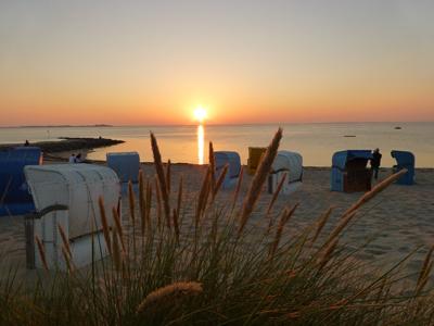 Sonnenuntergang bei Utersum auf Föhr