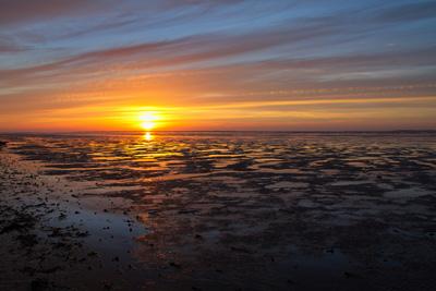 Sonnenuntergang am Watternmeer