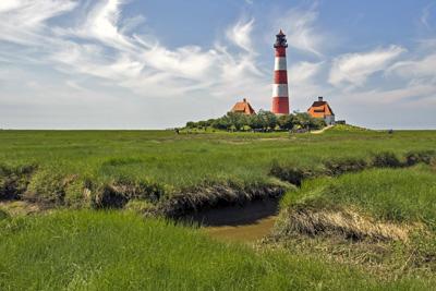 Leuchtturm Westerhever in St Peter Ording