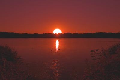 Sonnenuntergang am Öjendorfer See - Hamburg