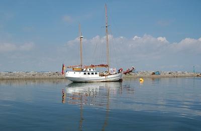 Hafeneinfahrt zur Greifswalder Oie