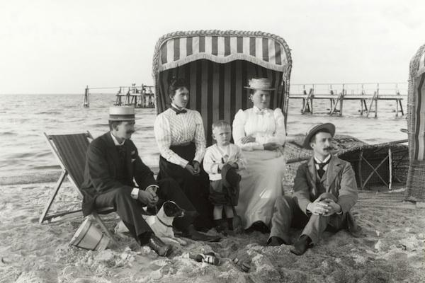 Der erste Strandkorb stand in Warnemünde